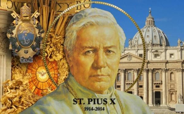 St Pius X (Poster) - 4x2 5bis