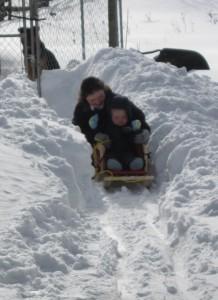 William on sled