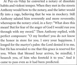 St Anthony story
