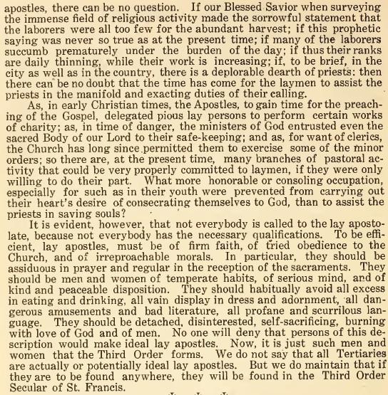 Catholic Lay Apostles 02 - March 1916