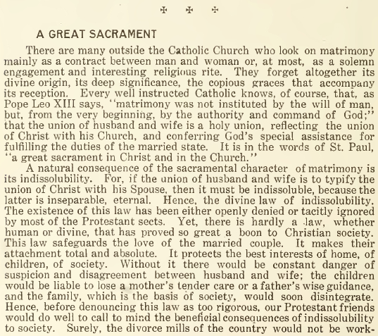 A Great Sacrament - May 1916