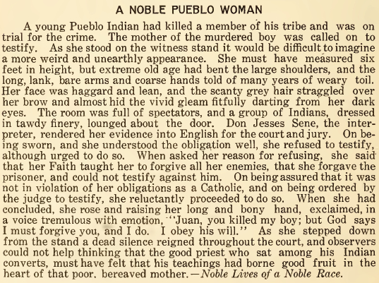 A Noble Pueblo Woman - June 1916