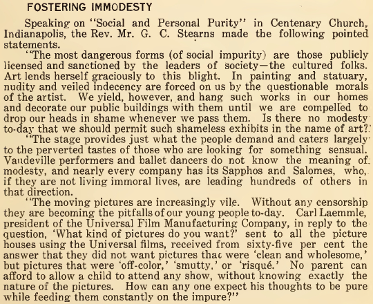 Fostering Immodesty - June 1916