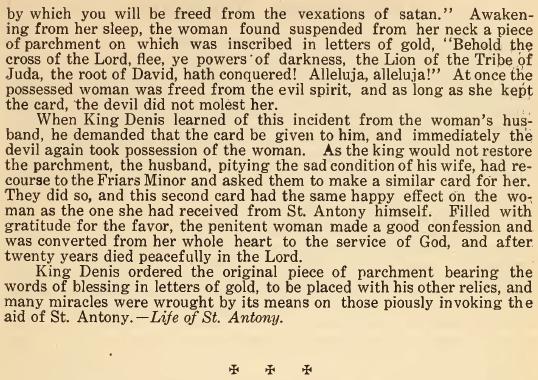 Origin of St. Anthony's Blessing 02 - June 1916