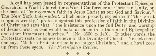 Our Common Faith in Jesus Christ - November 1916
