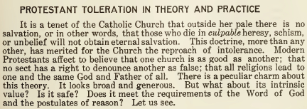Protestant Toleration in Theory and Practice - June 1915