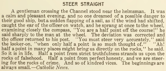 Steer Straight - May 1916