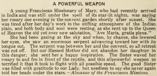 A Powerful Weapon - October 1917 - Franciscan Herald