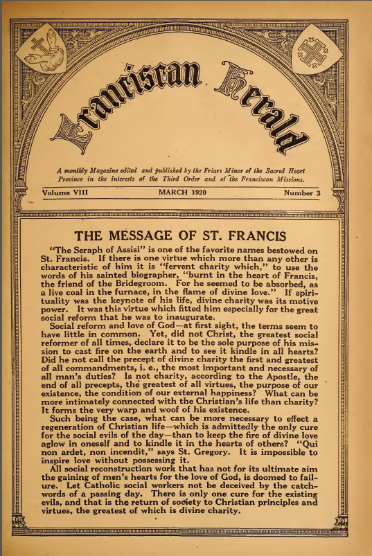 The Message of St. Francis - March 1920